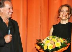 Julian Roman Pölsler, Martina Gedeck bei der Premiere in München, Foto: Kurt Krieger, Studiocanal GmbH