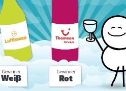 Wer tischt den besten Weißwein in 10.000 Metern Höhe auf?